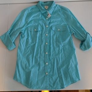 J. Crew Factory Perfect Button Down Camp Shirt